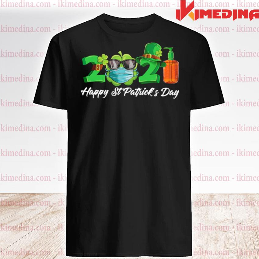 Official 2021 shamrock face mask happy st patrick's day shirt