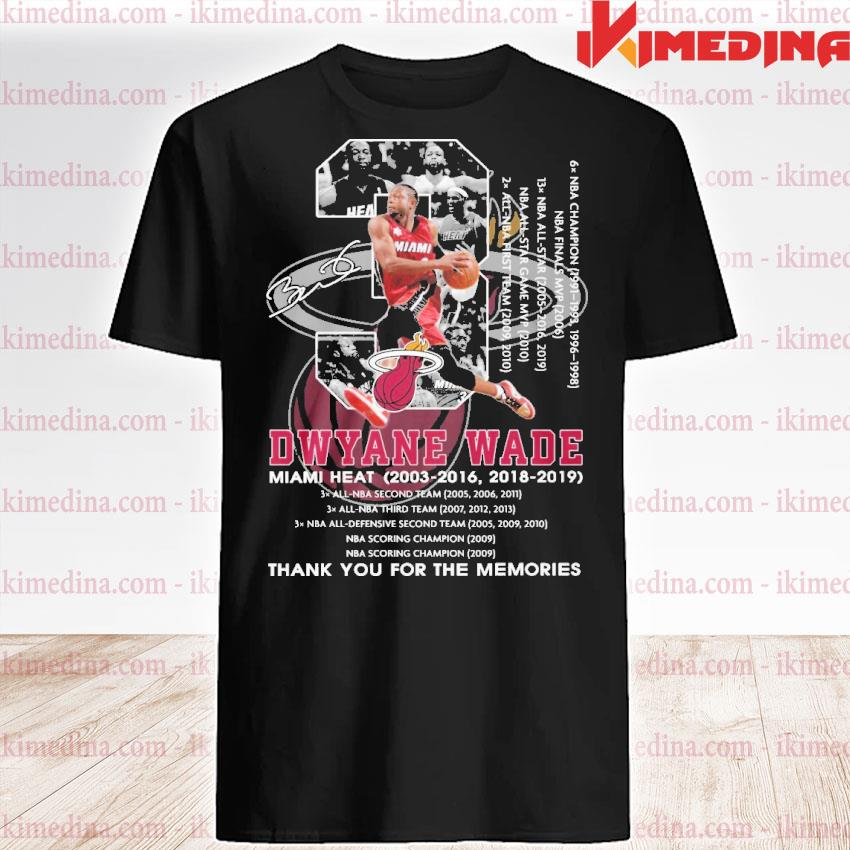 Official 3 dwyane wade miami heat thank you for the memories shirt