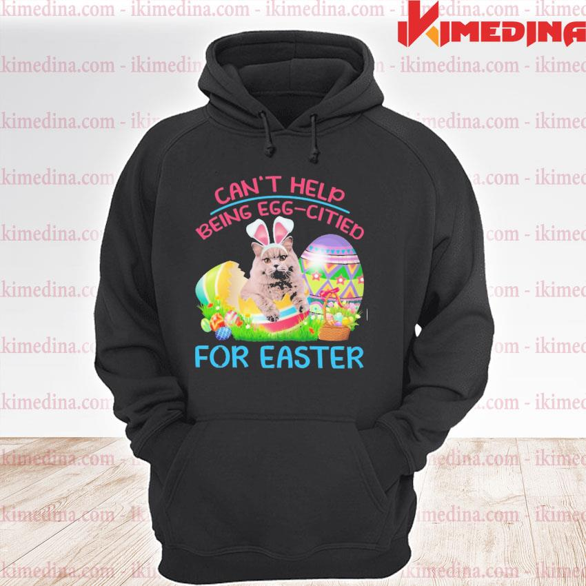 Official can't help being eggcited for easter premium hoodie