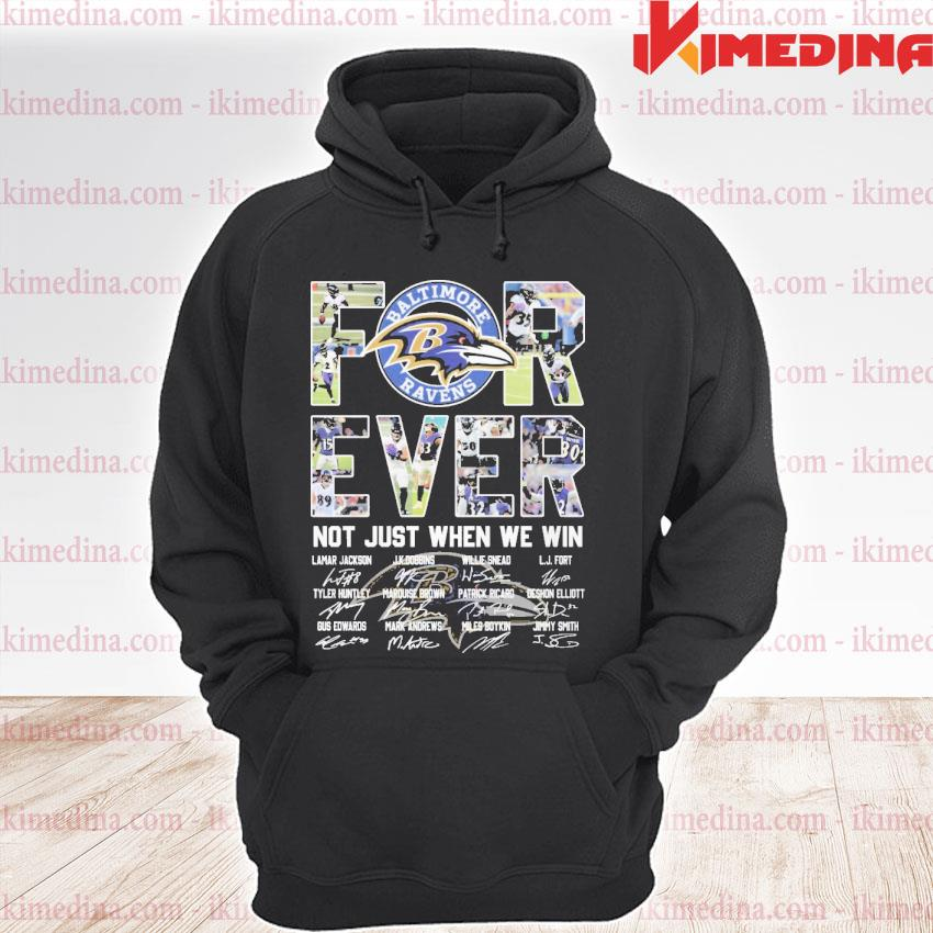 Official forever not just when we win premium hoodie