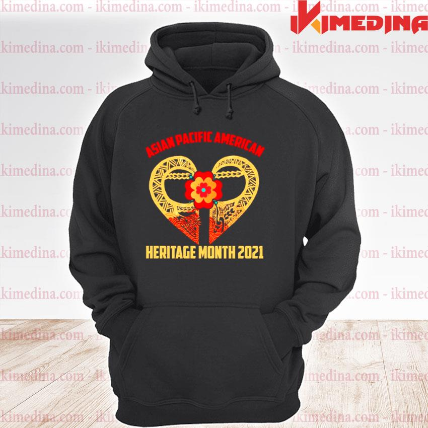 Official heart asian pacific american heritage month 2021 premium hoodie