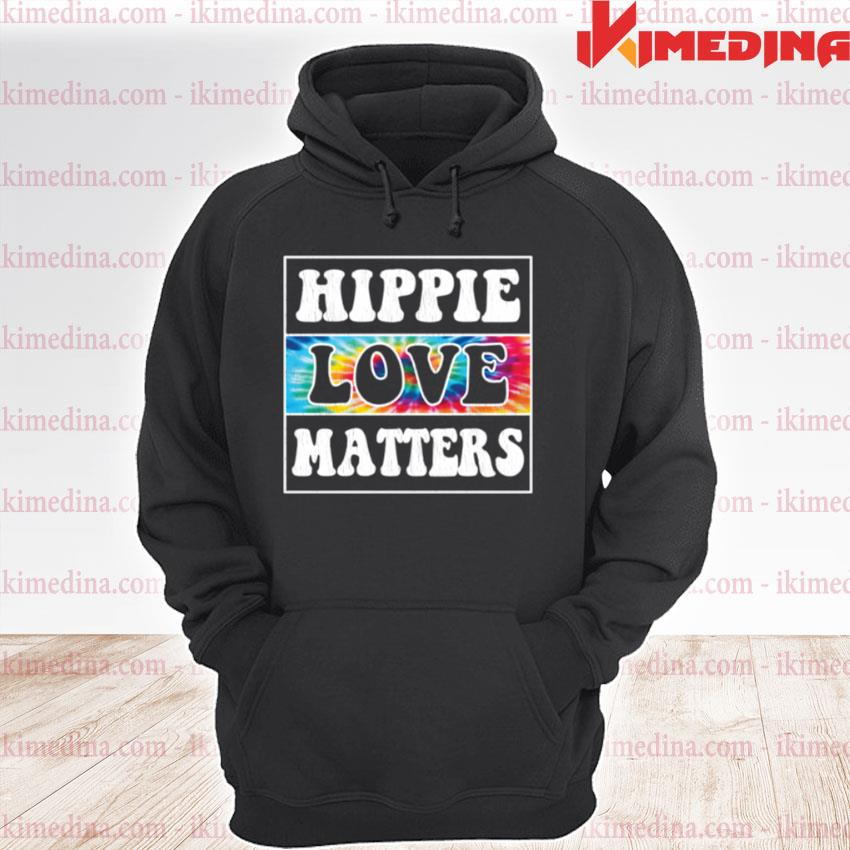 Official hippie and love matters premium hoodie