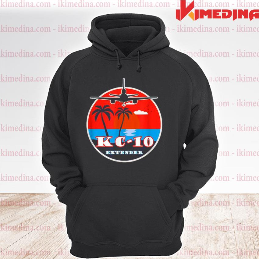 Official kc 10 extender vintage sunset premium hoodie