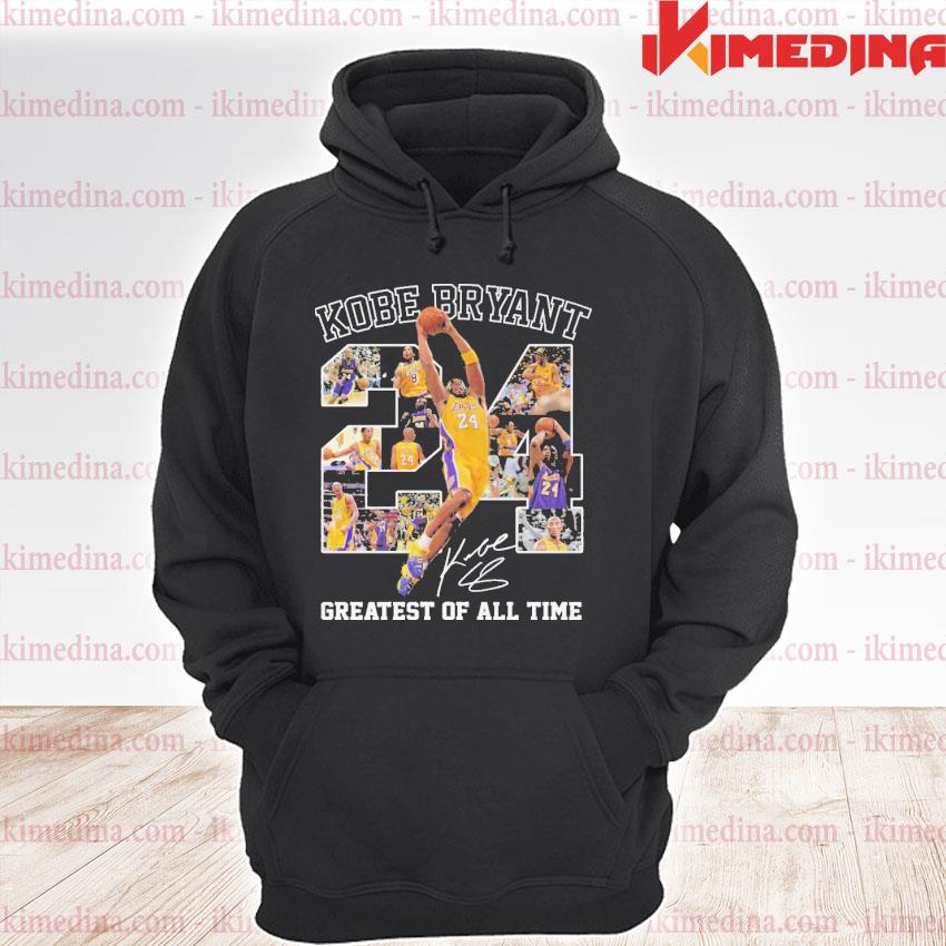 Official kobe bryant 24 greatest of all time premium hoodie