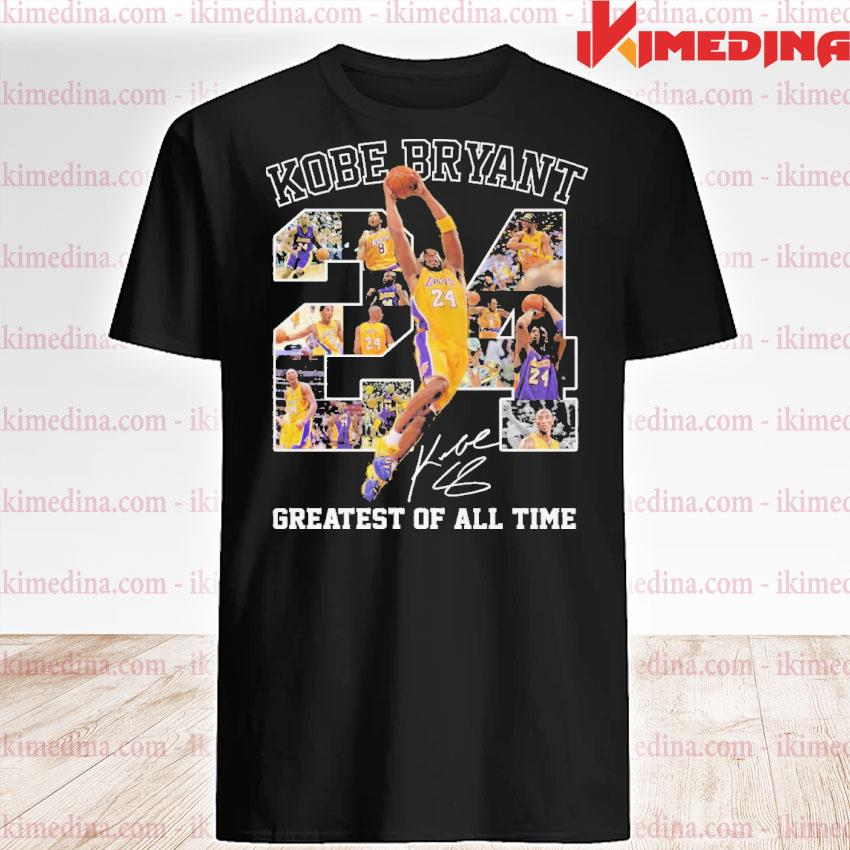Official kobe bryant 24 greatest of all time shirt