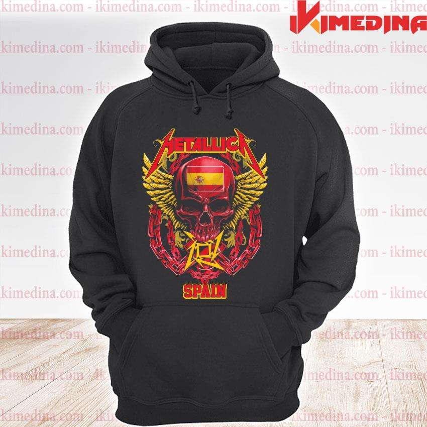 Official skull metallica spain premium hoodie