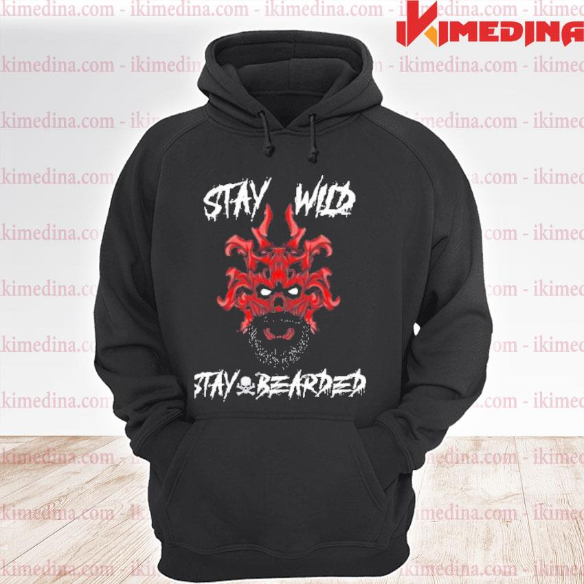Official skull stay wild stay bearded premium hoodie