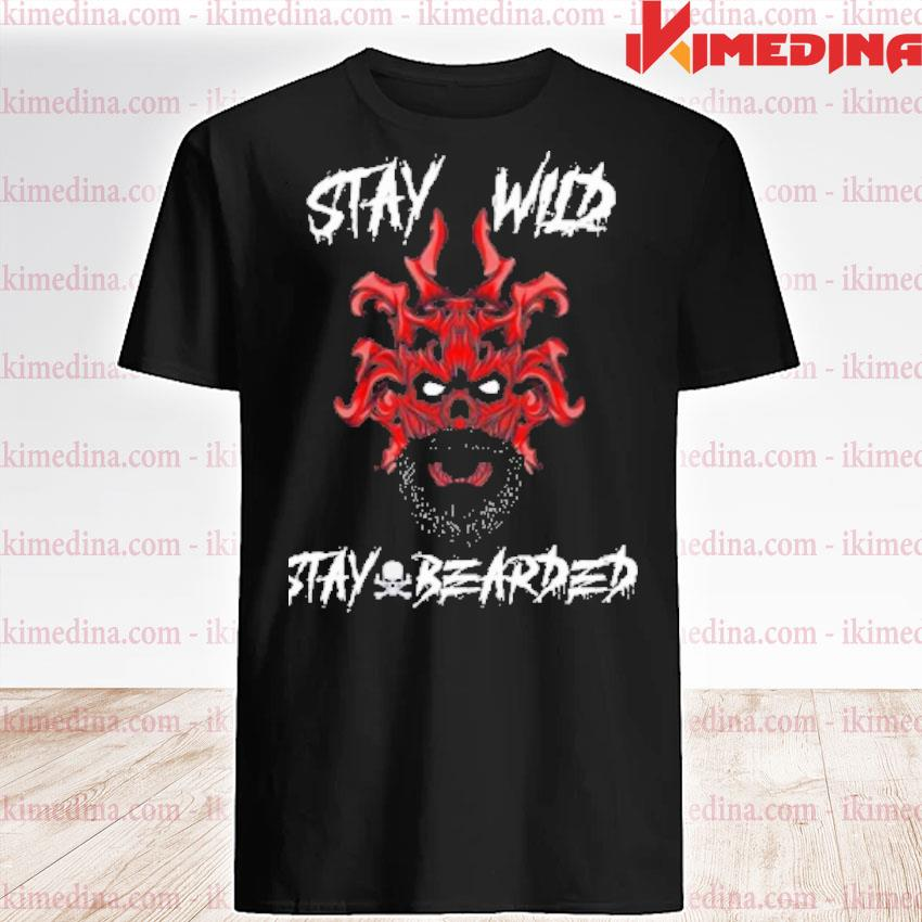 Official skull stay wild stay bearded shirt