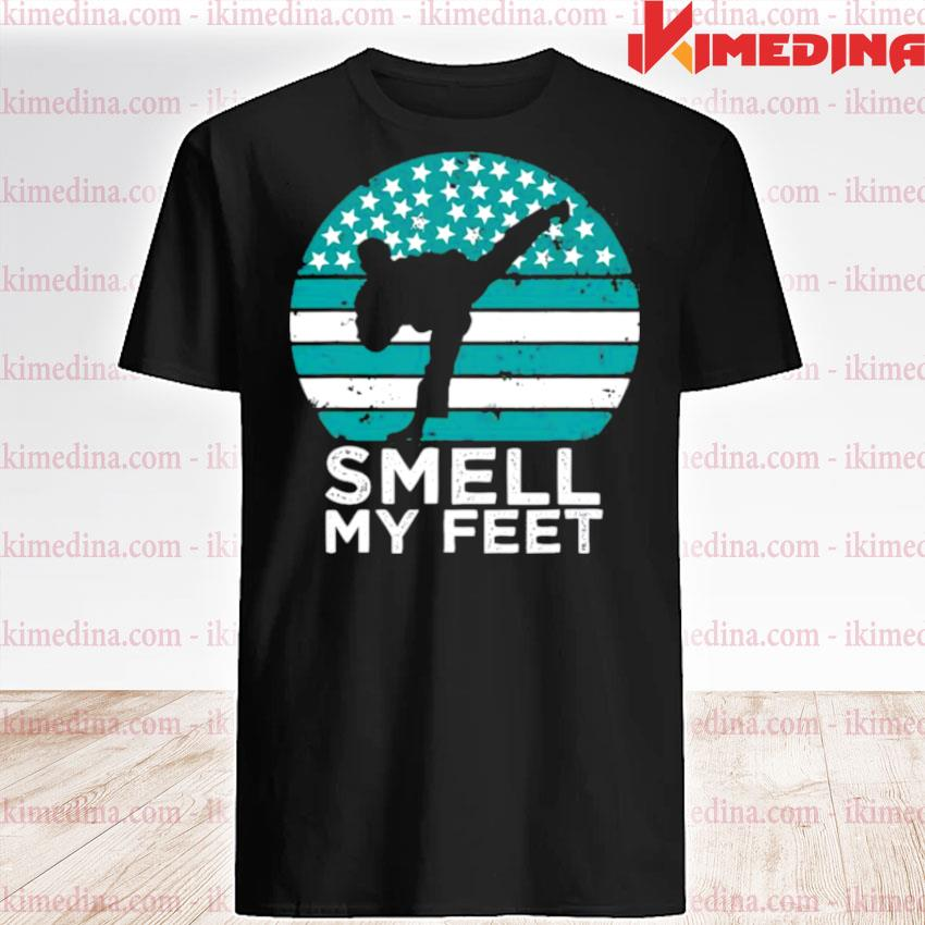 Official smell my feet funny karate shirt