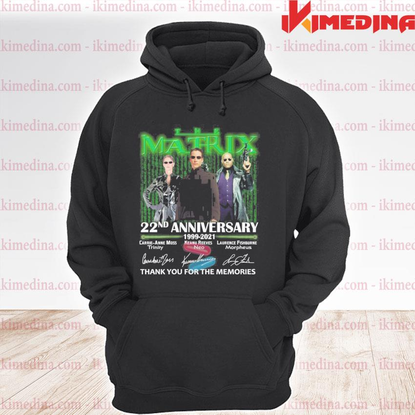 Official the matrix 22nd anniversary 1999 2021 thank you for the memories premium hoodie