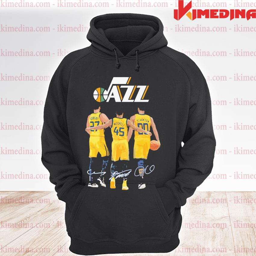 Official utah jazz gobert and mitchell and clarkson 2021 premium hoodie