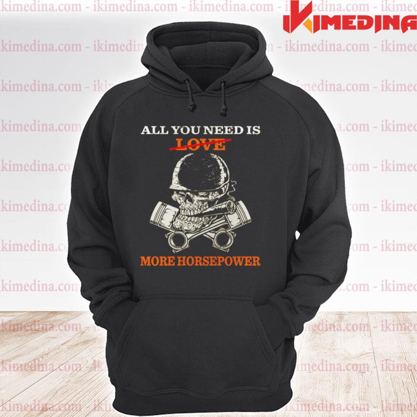 All You Need Is Love More Horsepower premium hoodie