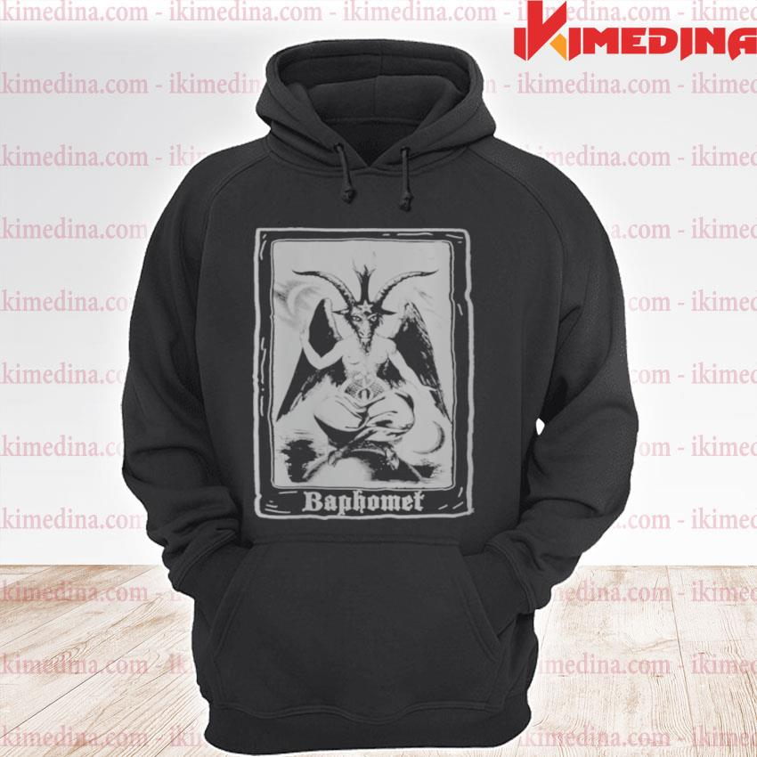 Baphomet Shirt Occult 666 Tarot Card Satanic Dark Art Evil premium hoodie