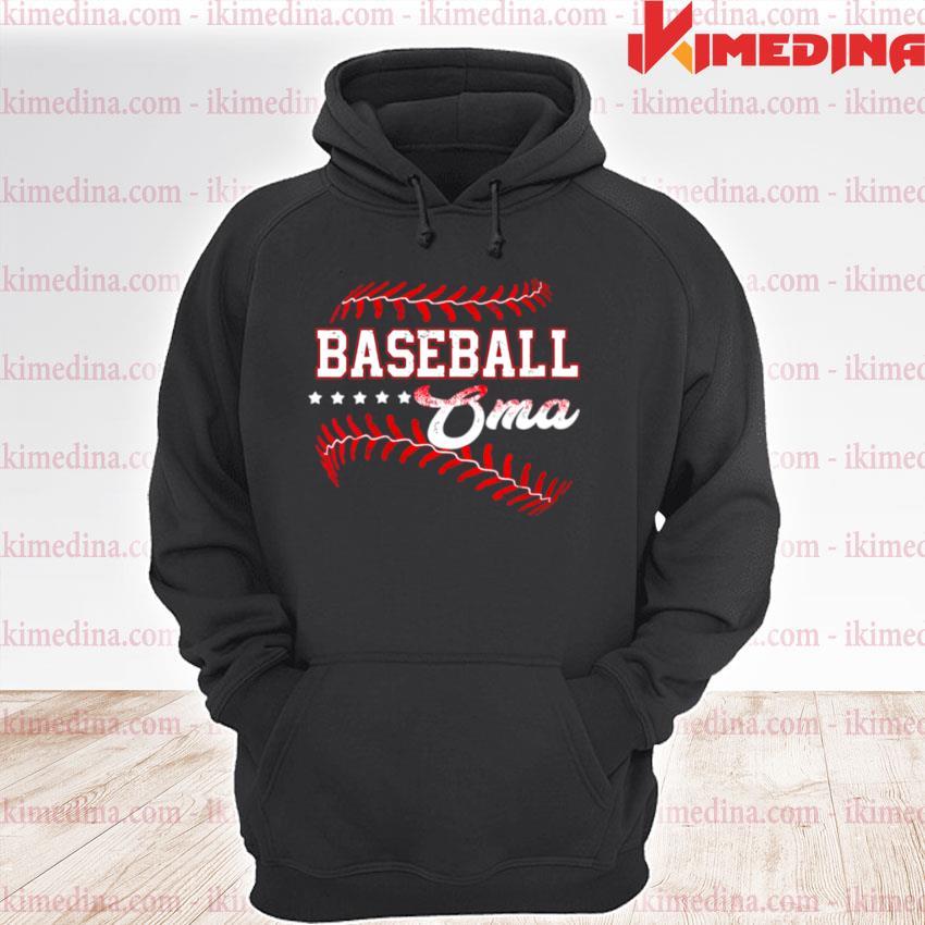 Baseball Oma Baseball Oma Mothers Day premium hoodie