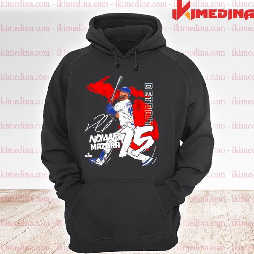 Detroit Baseball Nomar Mazara signature premium hoodie