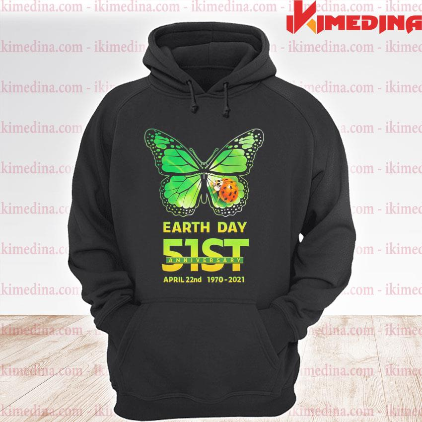 Earth day 51st anniversary 2021 butterfly environmental premium hoodie