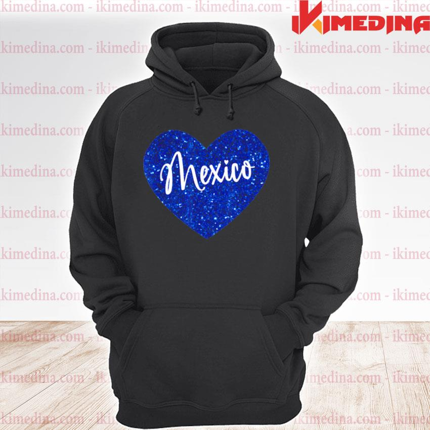 I Love Mexico Heart Shirt premium hoodie