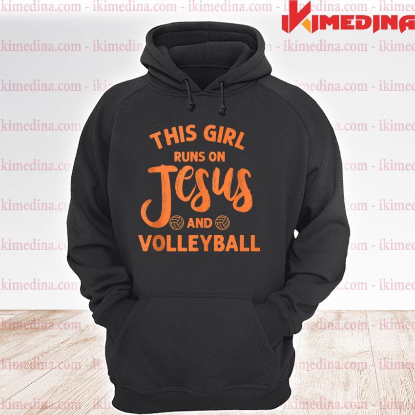 Jesus Volleyball For Girls Mom Athleten Youth premium hoodie