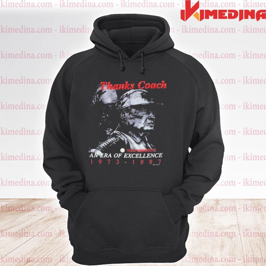 Nebraska huskers coach tom osborne era of premium hoodie