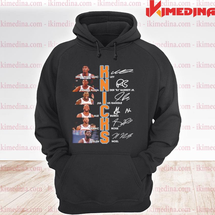 New York Knicks Team Players Signatures premium hoodie