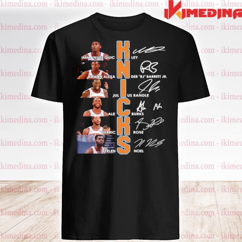 New York Knicks Team Players Signatures shirt