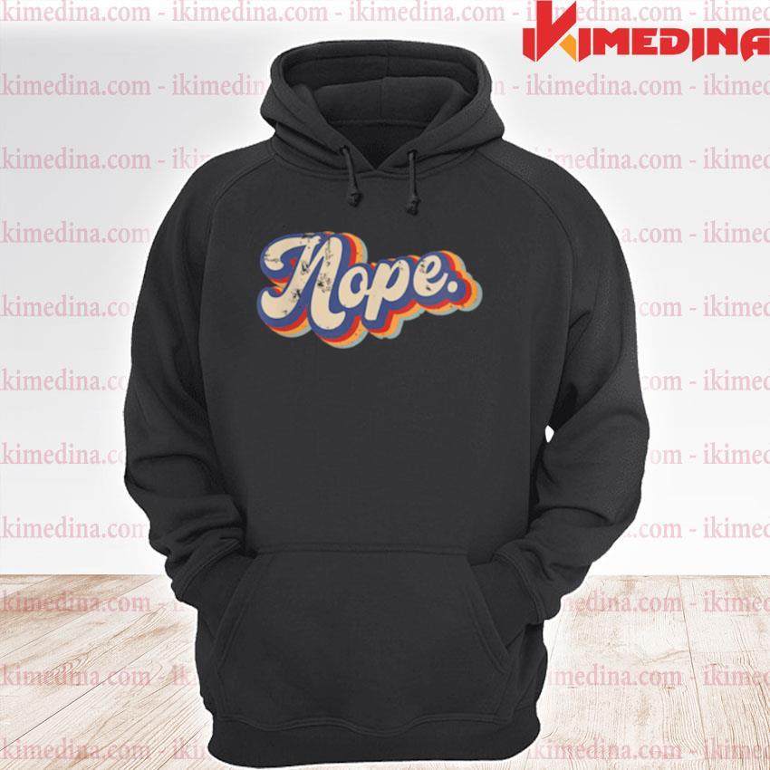 Nope Vintage Rainbow premium hoodie