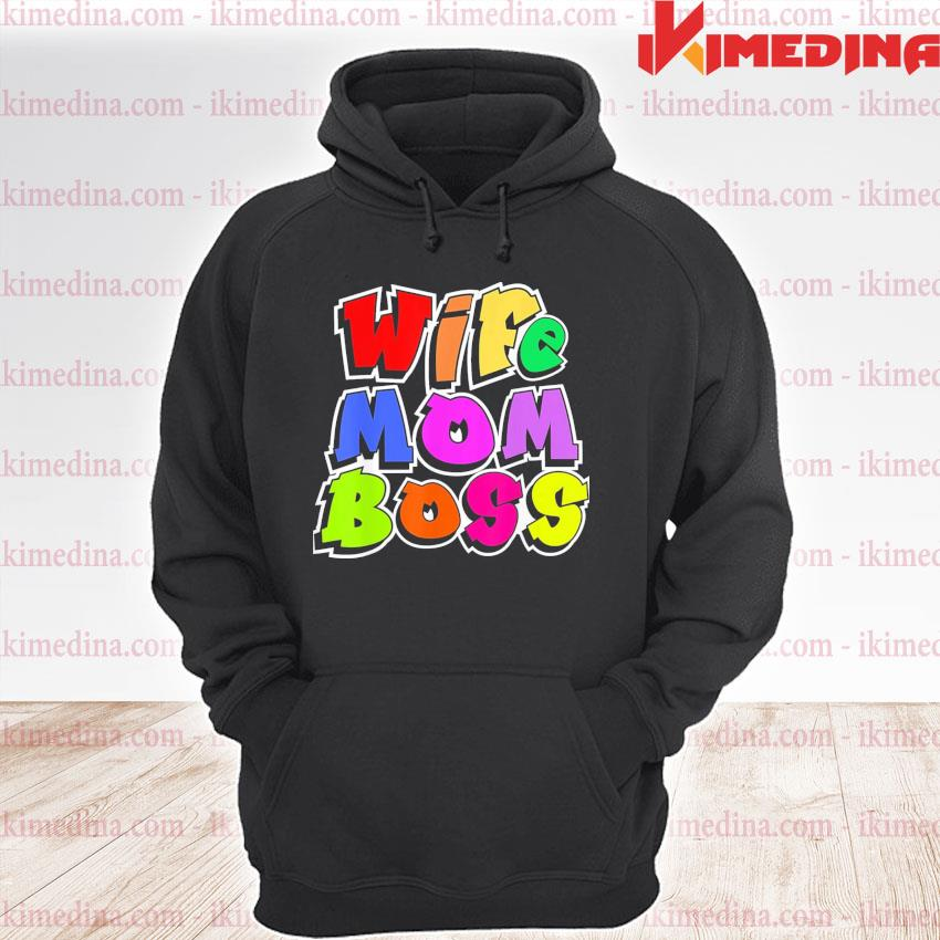 Official wife mom boss mother woman mommy mothers day premium hoodie