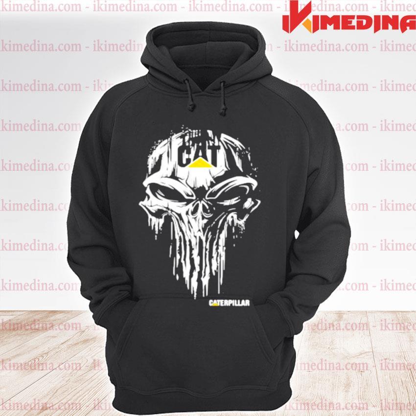Punisher With Caterpillar Logo Shirt premium hoodie