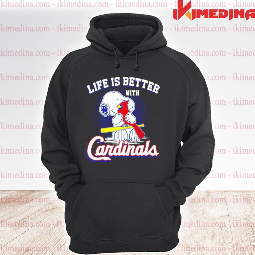 Snoopy life is better with St. Louis Cardinals premium hoodie