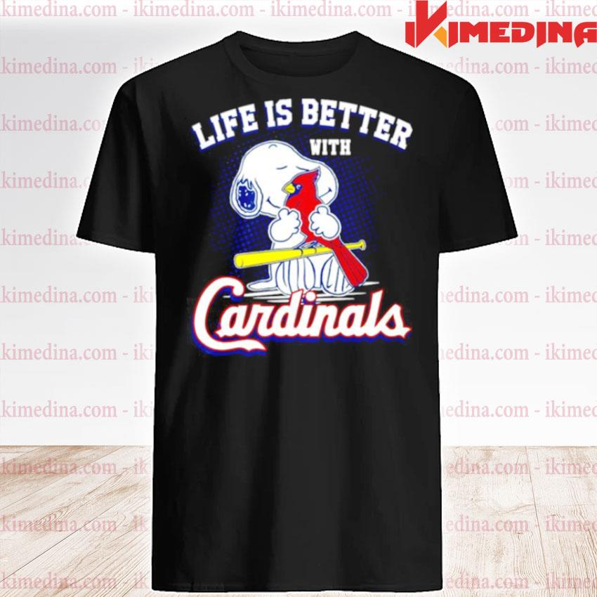 Snoopy life is better with St. Louis Cardinals shirt