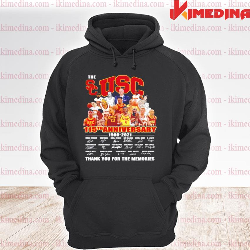 The USC Trojans men's basketball 115th anniversary 1906 2021 thank you for the memories premium hoodie