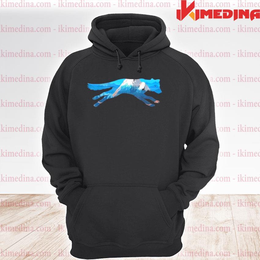 Wolf Scenic Mountain Silhouette premium hoodie