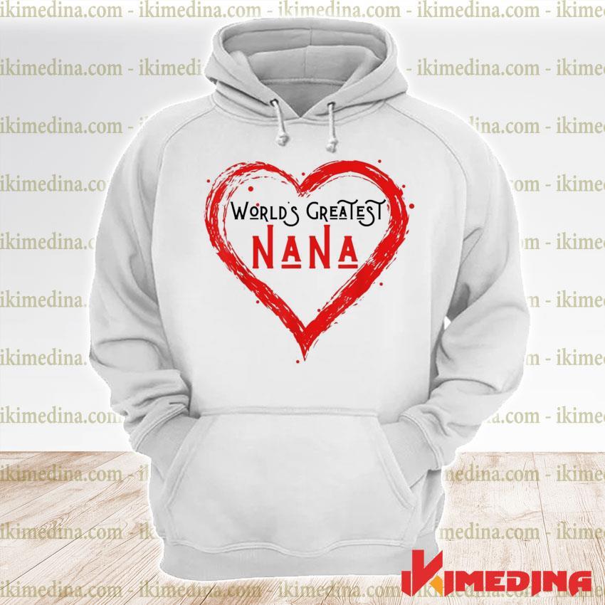 World's greatest nana grandma love distressed premium hoodie