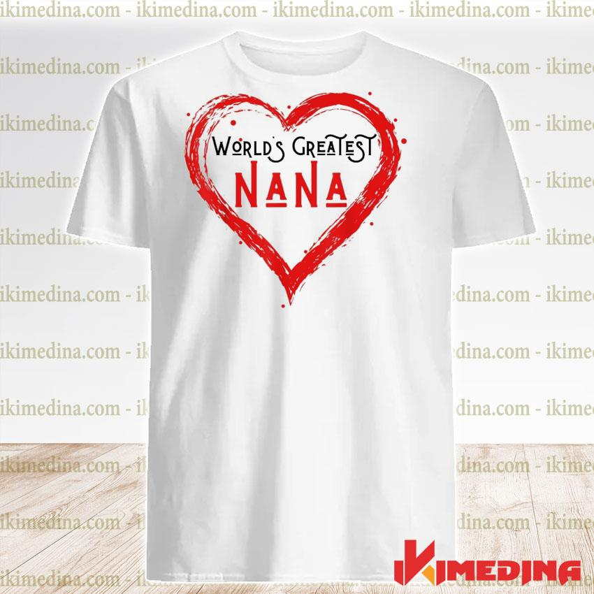 World's greatest nana grandma love distressed shirt