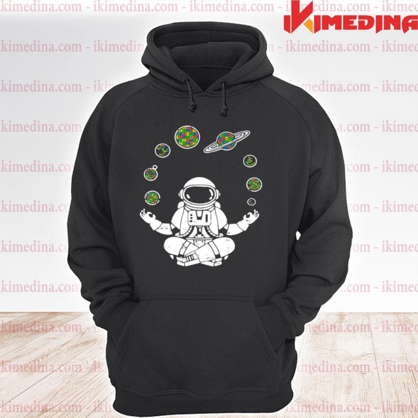 Yoga Astronaut Space Planets premium hoodie