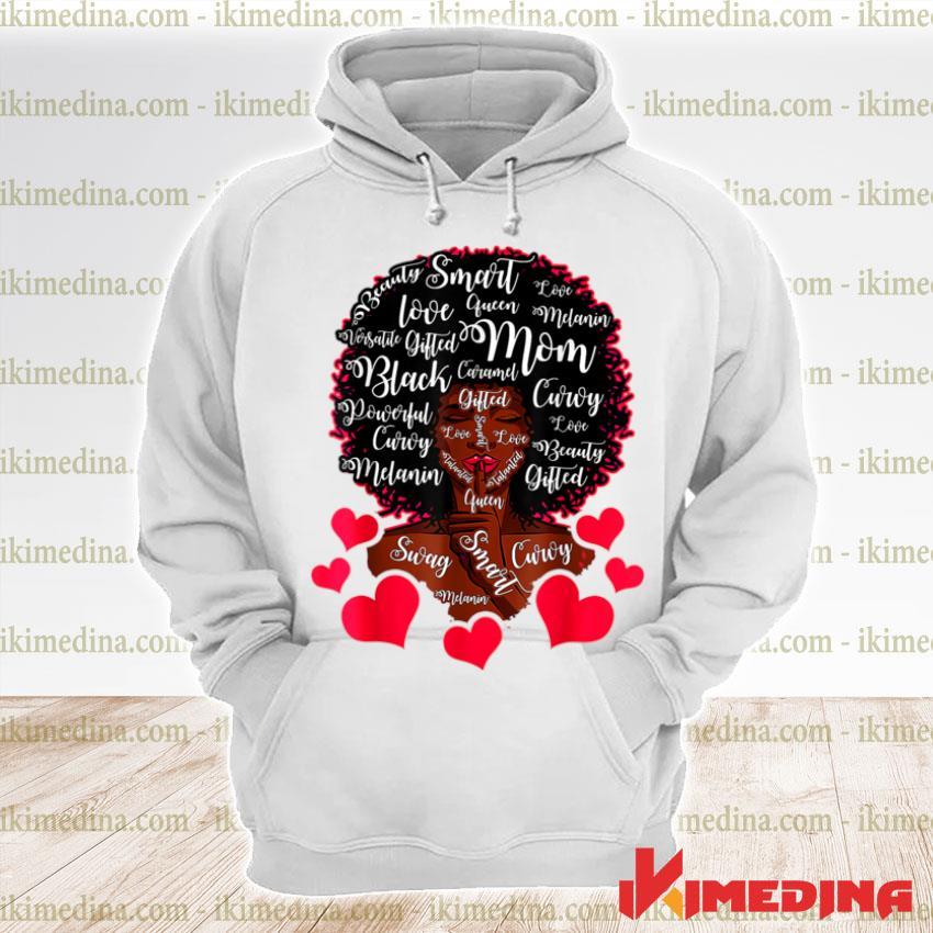 Best Cute Black Mama African American Mom Mother's Day Shirt premium hoodie