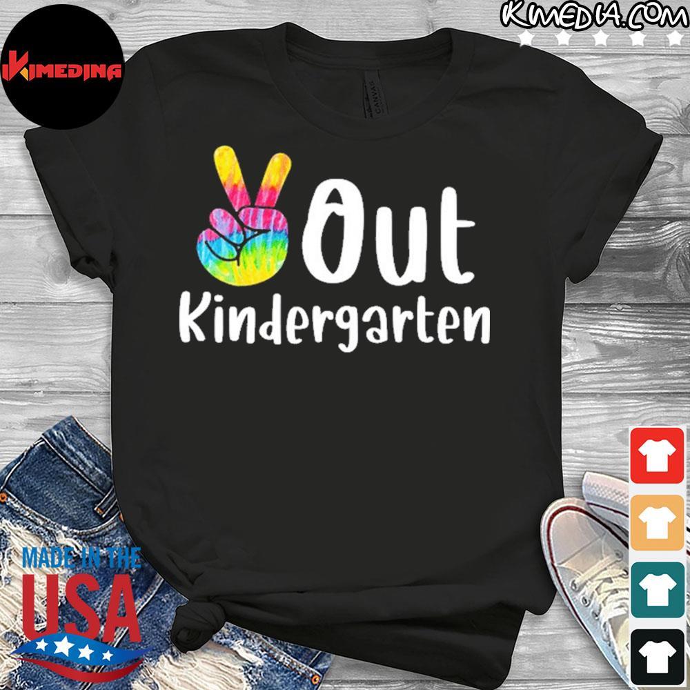 Peace Out Kindergarten Tie Dye Graduation Class Of 2021 Shirt