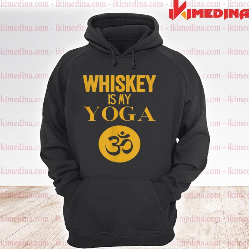 Whiskey is My Yoga Whisky Vintage Yogi premium hoodie
