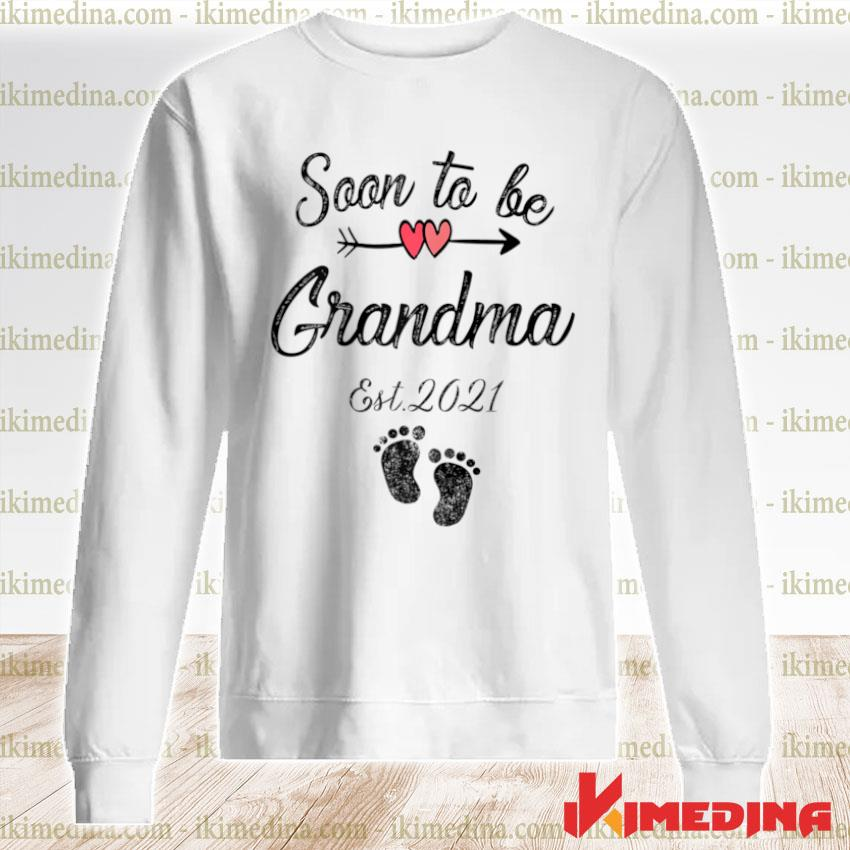 Womens Soon To Be Grandma Mothers Day For Mom Pregnancy Shirt premium sweater