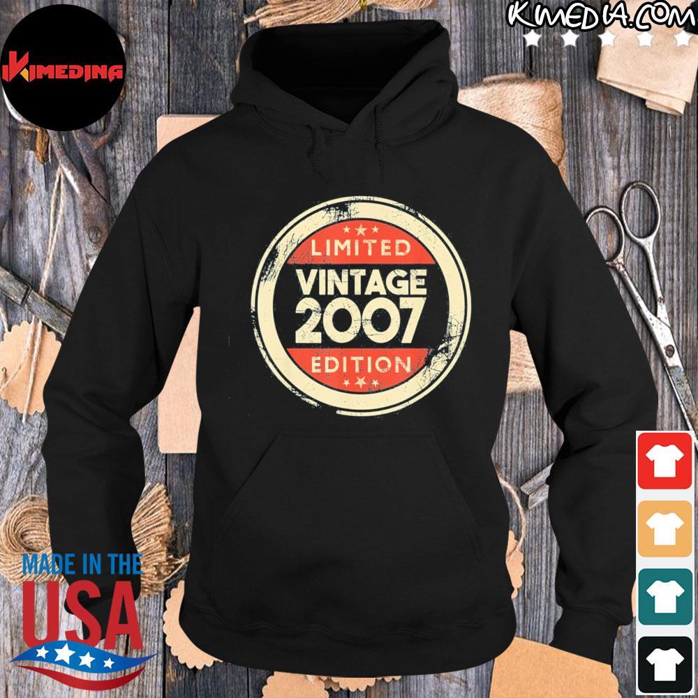 14 year old boys girls 14th birthday vintage 2007 us 2021 s hoodie-black