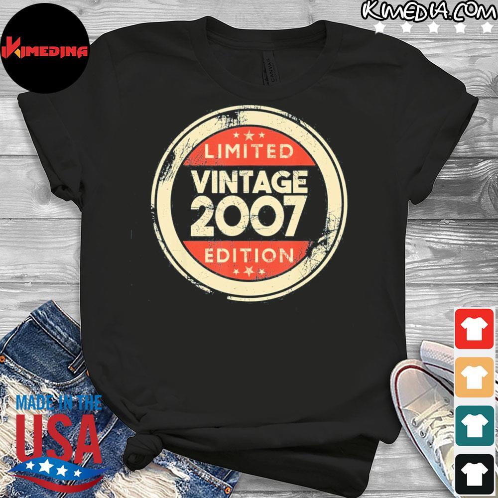 14 year old boys girls 14th birthday vintage 2007 us 2021 shirt
