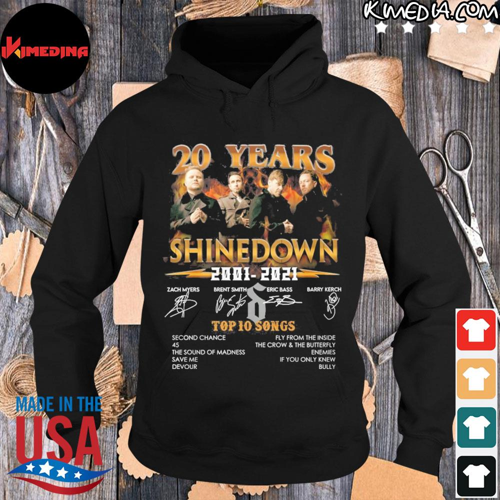 20 years shinedown 2001 2021 zack myers and brent smith eric bass and barry kerch s hoodie-black