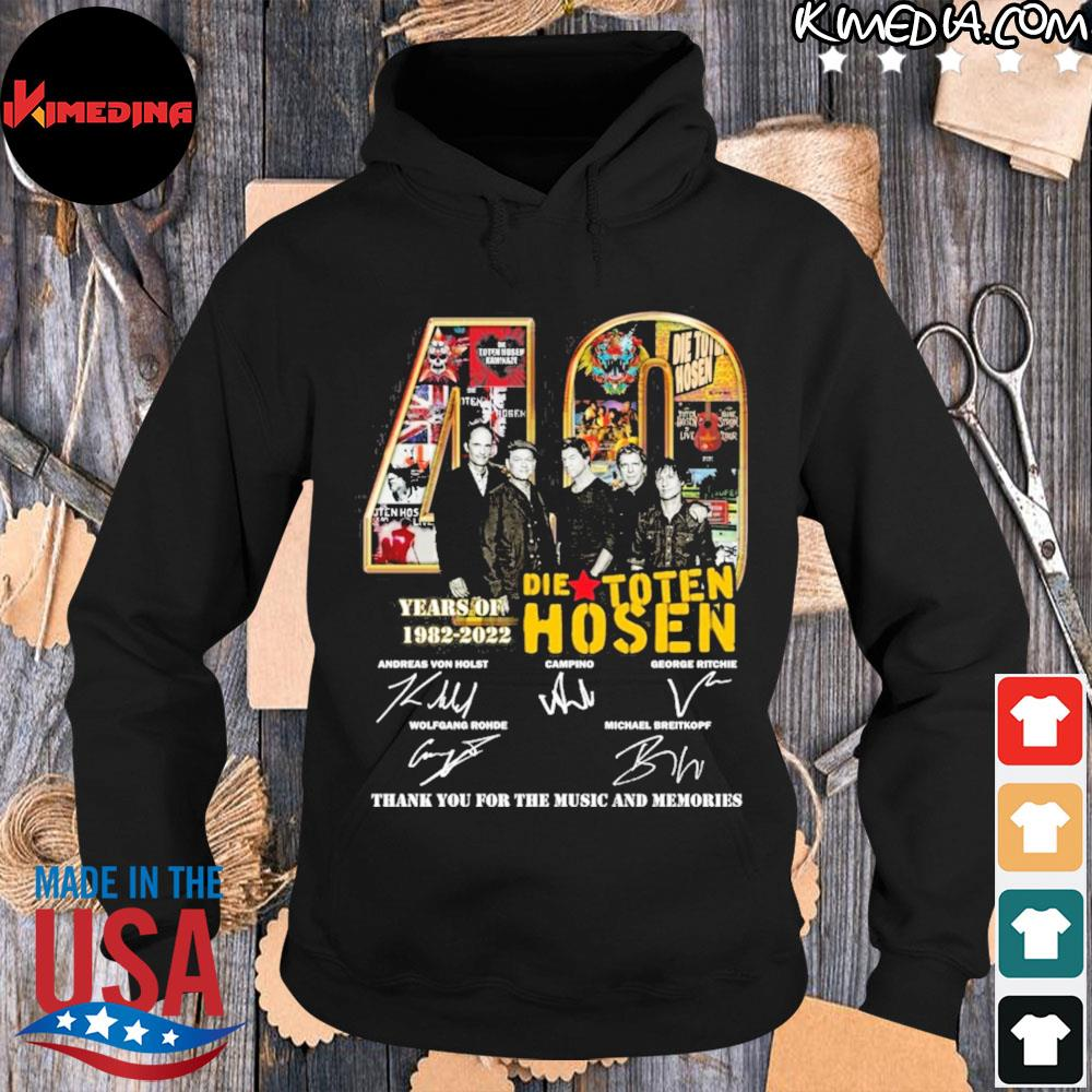 40 die toten hosen years of 1982 2022 thank you for the music and memories s hoodie-black