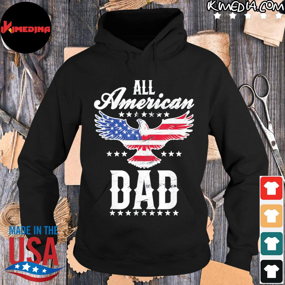 All american dad eagle 4th of july fathers day s hoodie-black