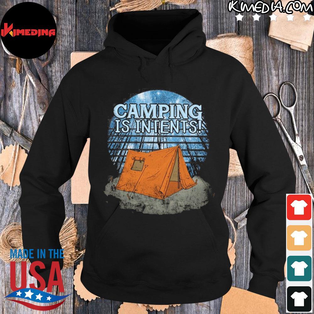 Camping is intents s hoodie-black