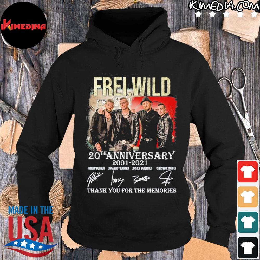 Frei wild 20 th anniversary 2001 2021 thank you for the memories s hoodie-black
