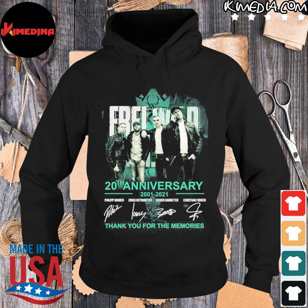 Frei wild 20th anniversary 2001 2021 thank you for the memories s hoodie-black