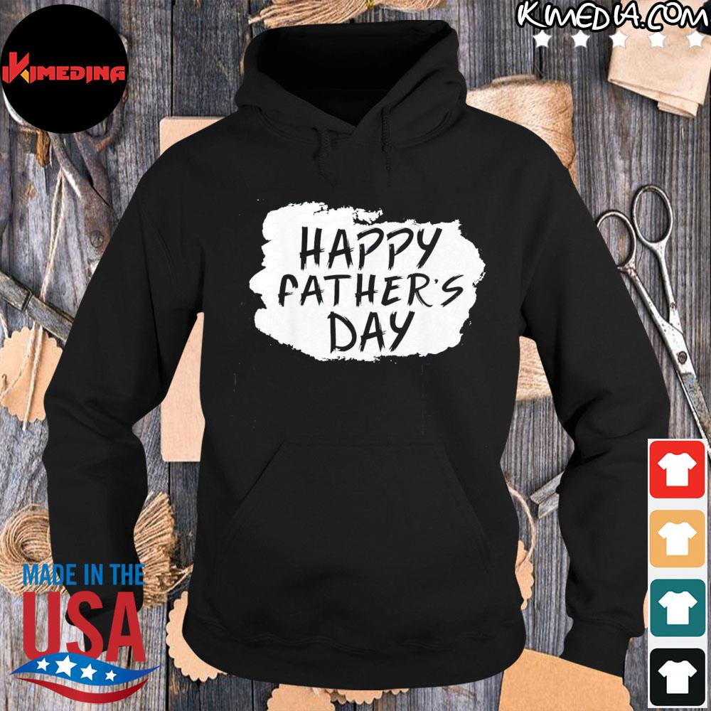 Happy Father's Day Gift TShirt hoodie-black