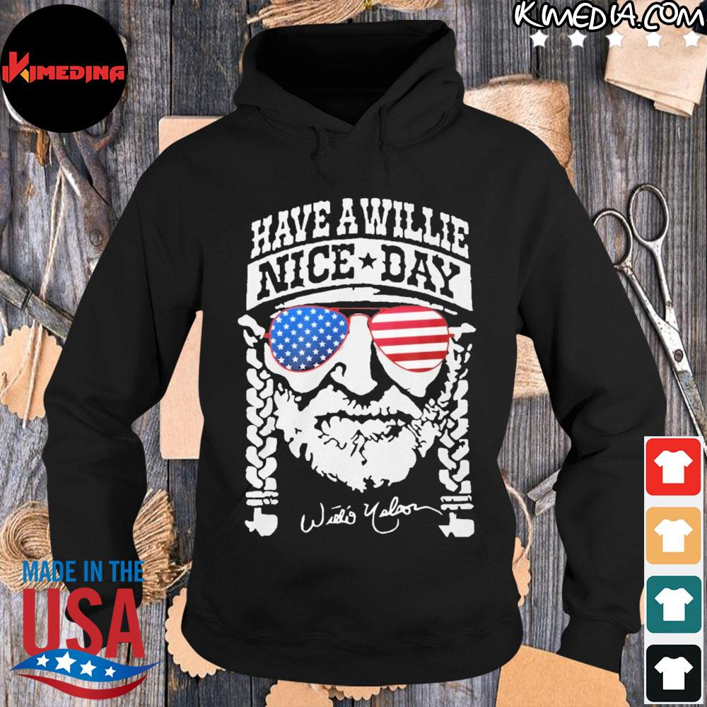 Have a willie nice day american s hoodie-black