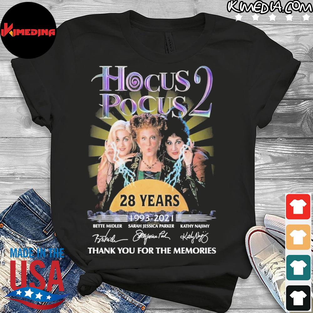 Hocus pocus 2 29 years 1993 2021 thank you for the memories shirt